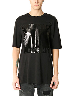 Helmut Lang-T-Shirt Film Logo in cotone nero