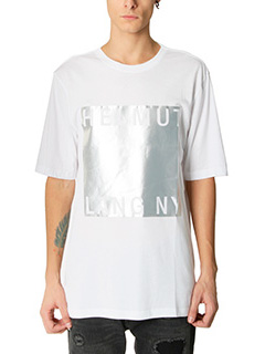 Helmut Lang-T-Shirt Film Logo in cotone bianco