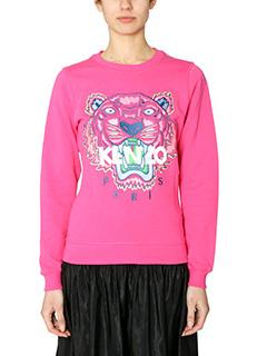Kenzo-Felpa Tiger in cotone rosa