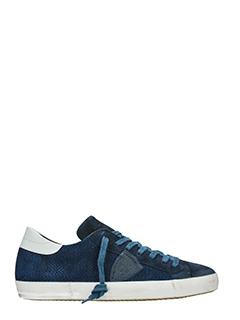 Philippe Model-Sneakers Classic in pelle  e camoscio blue