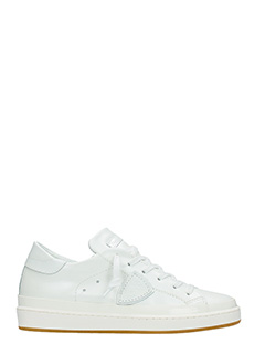 Philippe Model-Sneakers Lakers in pelle metal bianca