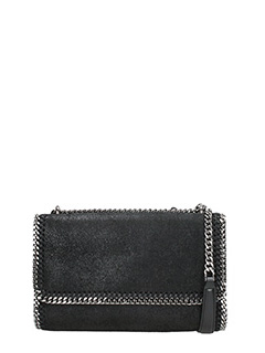 Stella McCartney-Borsa  Falabella Cross Body in shaggy deer nero argento