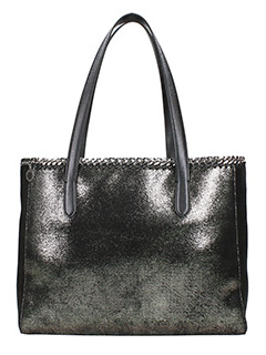 Stella McCartney-Borsa Tote Bag Falabella in shaggy deer ruthenium