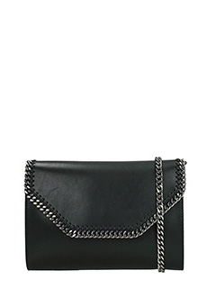 Stella McCartney-Clutch Box in ecopelle nera
