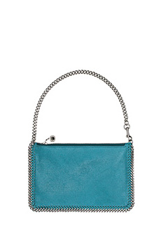 Stella McCartney-Pochette Falabella Purse in shaggy deer  celeste