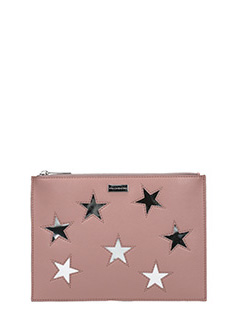 Stella McCartney-Pochette Flat Document Case in ecopelle rosa