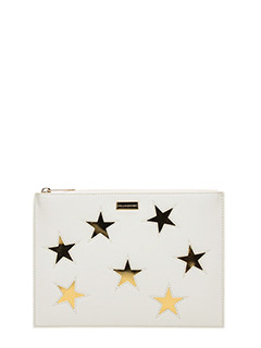 Stella McCartney-Pochette Flat Document Case in ecopelle naturall