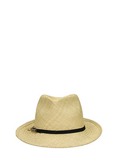 Stella McCartney-Cappello Falabella  in paglia natural