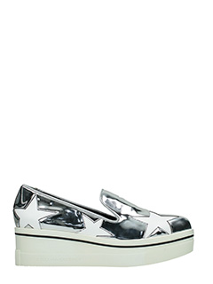 Stella McCartney-Sneakers Binx Stars in eco pelle argento bianca