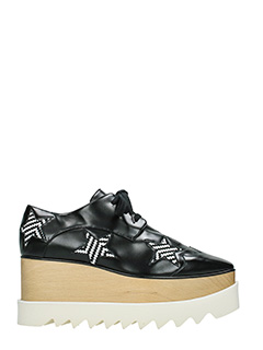 Stella McCartney-Elyse star black rubber/plasic lace up shoes