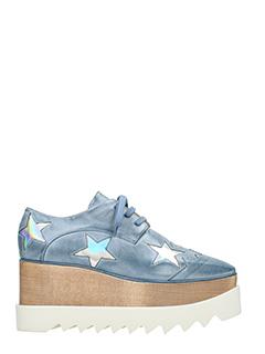 Stella McCartney-Elyse star cyan rubber/plasic lace up shoes