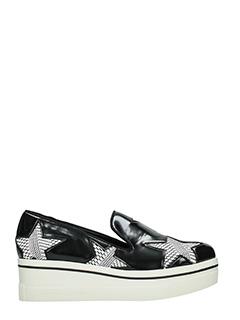 Stella McCartney-Sneakers Binx Prisma in eco pelle nera-stampa stelle