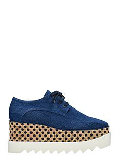Stella McCartney-Elyse blue denim lace up shoes