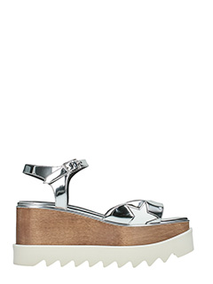 Stella McCartney-Sandali Elyse in eco pelle argento