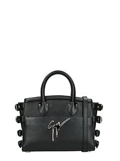 Giuseppe Zanotti-Borsa Handle Bag in pelle nera