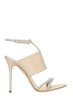 Giuseppe Zanotti-Mistico 105 beige patent leather sandals