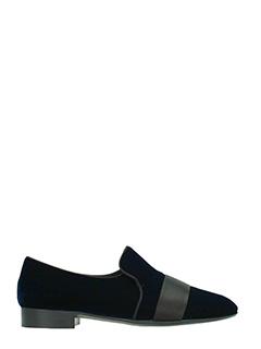 Giuseppe Zanotti-Mocassini Cut 15 in velluto blue