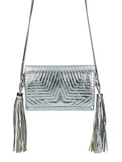 Golden Goose Deluxe Brand-Borsa Fanny  in pelle metal argento