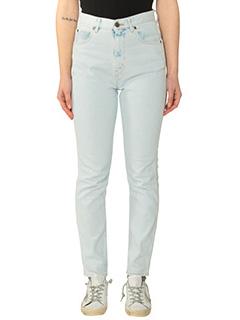 Golden Goose Deluxe Brand-Jeans Thelma in denim azzurro