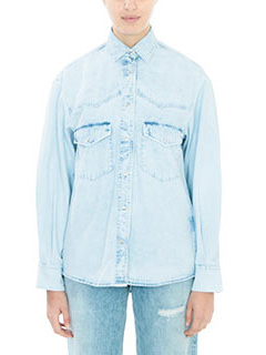 Golden Goose Deluxe Brand-Camicia  Golden Castum in denim celeste