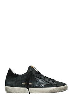 Golden Goose Deluxe Brand-Sneakers Superstar in pelle traforata nera