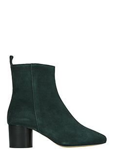 Isabel Marant-Deyissa black suede ankle boots