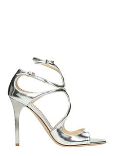 Jimmy Choo-Lang silver leather sandals