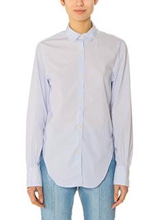 Isabel Marant-Liliana cyan cotton shirt