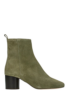 Isabel Marant-Deyissa taupe suede ankle boots