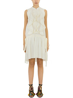 Chloé-white silk dress