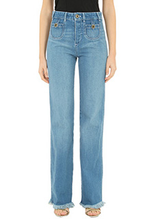 Chloé-blue denim jeans
