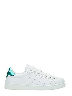 Dsquared 2-Sneakers Santa Monica in pelle bianca