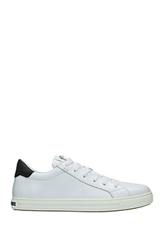 Dsquared 2-Sneakers Tennis Club in pelle bianca nera