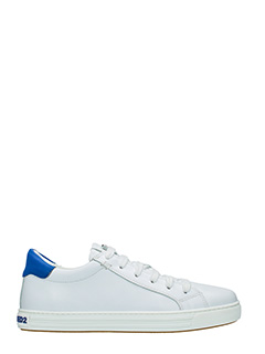 Dsquared 2-Sneakers Tennis Club in pelle bianca blue