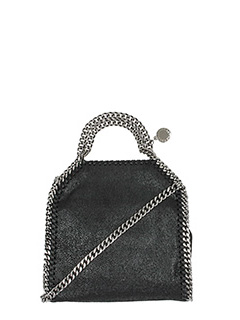 Stella McCartney-Borsa Falabella Tiny  in shaggy nero
