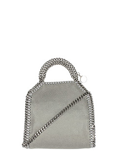 Stella McCartney-Borsa Falabella Tiny  in shaggy grigio