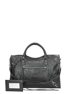 Balenciaga-Class city grey leather bag