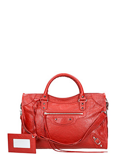 Balenciaga-Class city red leather bag