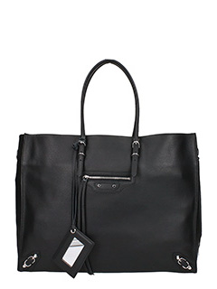 Balenciaga-Paper Za A4 black leather bag