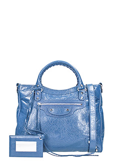Balenciaga-Class velo blue leather bag