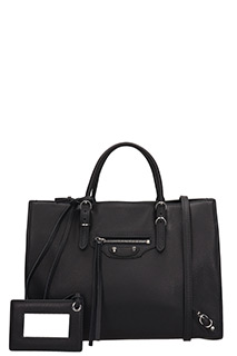Balenciaga-Paper Za A6 black leather bag