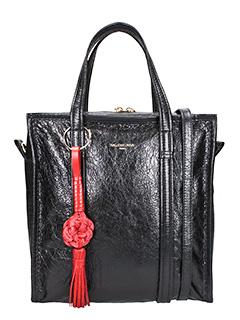 Balenciaga-Borsa Bazar Shopper in pelle nera