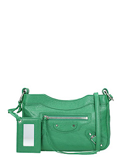 Balenciaga-Class hip  green leather bag
