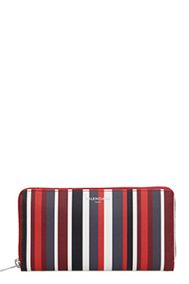 Balenciaga-Portafoglio Essen Continental Stripes  Zip Around in pelle multicolor