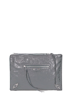 Balenciaga-Class pouch grey leather clutch