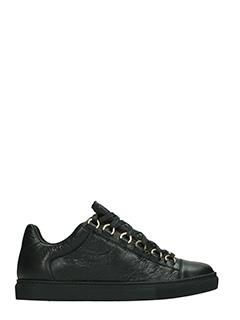 Balenciaga-Sneakers Arena in pelle nera