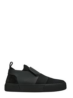 Balenciaga-Sneakers Slip On  Trainers in pelle e tessuto nero