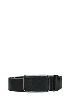 Dsquared 2-Cintura CATEN BROTHERS in pelle nera