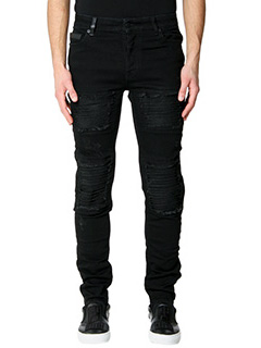 Marcelo Burlon-Jeans Gil Biker in denim nero