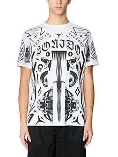 Marcelo Burlon-T-Shirt Rico in cotone bianco nero